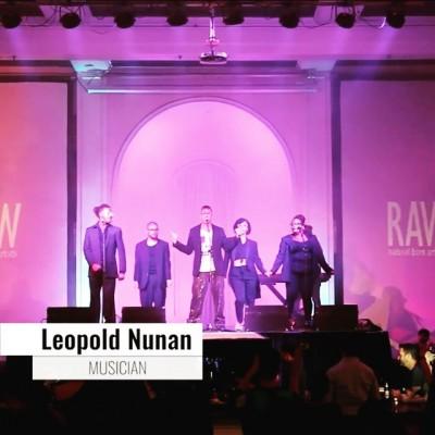 LEOPOLD NUNAN AT RAW ARTIST