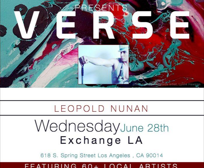 Leopold Nunan-RAW Los Angeles presents VERSE